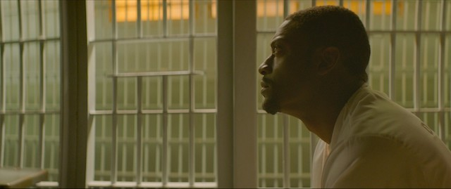 In Clemency, Aldis Hodge stars as Anthony Woods. Courtesy of NEON