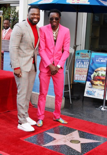 Curtis 50 Cents Jackson and Michael Blackson
