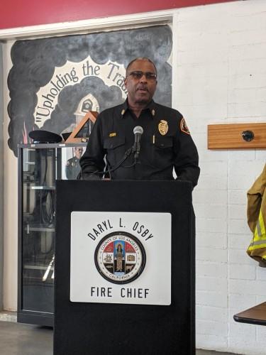 Los Angeles County Fire Chief Daryl L. Osby