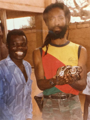Santa Davis in Benin (photo courtesy of Tony Chin)