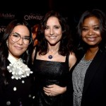 (L-R) Ali Wong, Julia Louis-Dreyfus, and Octavia Spencer attend the world premiere