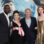 (L-R) Omar Sy, Cara Gee, Harrison Ford, and Karen Gillan