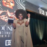 Amara La Negra with her GODDESS BEAUTY AWARD