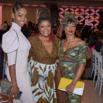 L-R Guest, Actress Yvette Nicole Brown, Actress Monique Coleman