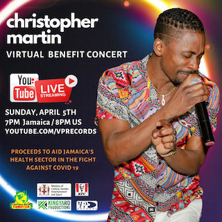 Christopher Martin Presents Live Stream Performance on VP Records YouTube Page