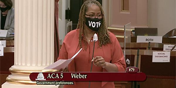 Senator Holly Mitchell ( D-Los Angeles)