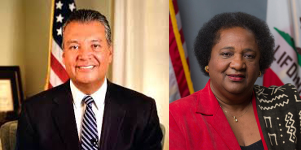 California Secretary of State Alex Padilla and  Assemblymember Dr. Shirley N. Weber (D-San Diego).