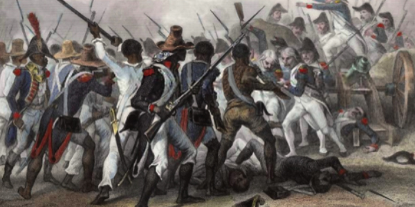 Haitian revolution 1802. Original illustration by Auguste Raffet, engraving by Hebert. Photo courtesy under Creative Commons CC0 License