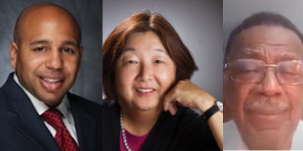 "Everett Sands, CEO, Lendistry, Jan Masaoka - exe director  - ""nonprofit chamber of commerce,"" Cal NonProfits and Earl Jones - Bridge Builders Foundation, LA"